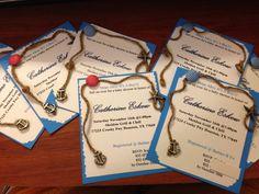 Homemade nautical baby shower invitations. #DIY #nautical