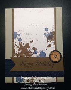Stampin' Up! Gorgeous Grunge masculine birthday card