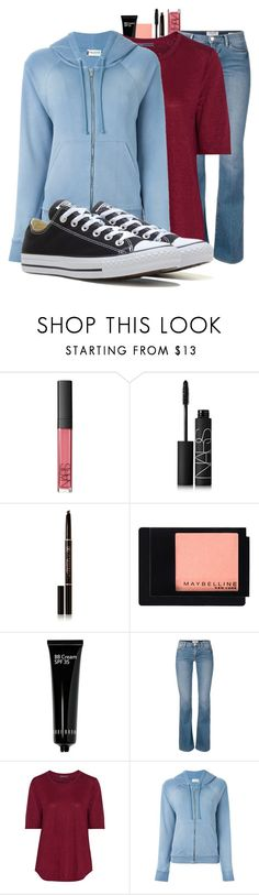 """Nick & Nora/Sid & Nancy"" by cheyleexox ❤ liked on Polyvore featuring NARS Cosmetics, Anastasia Beverly Hills, Maybelline, Bobbi Brown Cosmetics, Vince, Yves Saint Laurent and Converse"