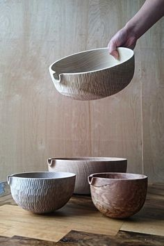 The Four-handed Creations of Takahashi McGil — Design Anthology - wood work diy Ceramic Tableware, Ceramic Bowls, Ceramic Art, Kitchenware, Stoneware, Earthenware, Pottery Bowls, Ceramic Pottery, Thrown Pottery