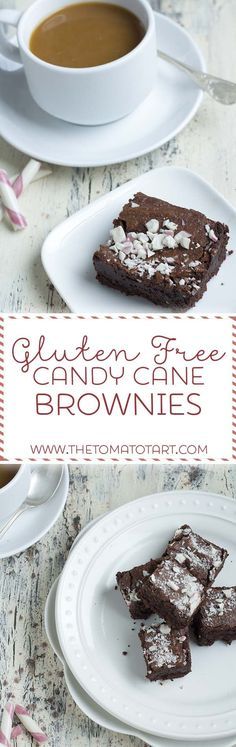 Gluten Free Brownies with Candy Canes  from www.thetomatotart.com