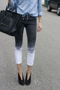 something Sophie would make.....dip-dyed denim