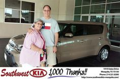 https://flic.kr/p/xYydRm | Congratulations Susan on your #Kia #Soul from Mike Stanton at Southwest Kia Mesquite! | deliverymaxx.com/DealerReviews.aspx?DealerCode=VNDX