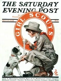 Girl Scouts  - Norman Rockwell....I think some how He had Alix in mind when making this...my animal loveing GS :)