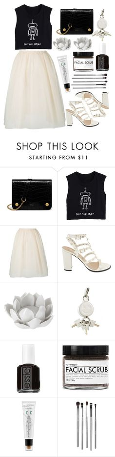 """""""Robot Ballerina"""" by prettyorchid22 ❤ liked on Polyvore featuring Mulberry, Golden Goose, Valentino, Pavilion Broadway, Alexander Wang, Essie, Fig+Yarrow, too cool for school, esum and monochrome"""