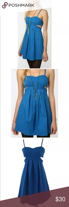 NEW Urban Outfitters Sparkle&Fade Cut Out Dress- S New with Tags Urban Outfitters Sparkle & Fade Blue Cut Out Dress Size Small. Stunning, structured cut out dress.   Please see pictures for measurements.   Ref1#ooo Urban Outfitters Dresses
