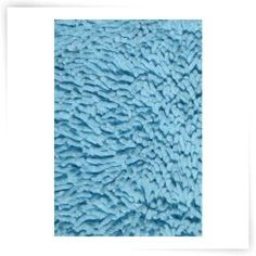 L.A. Rugs Light Blue Chenille Shag Rug