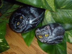 Black Cat rock small by petimagery on Etsy