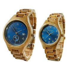 Drevené hodinky pre páry so Zľavou a s dopravou ZDARMA – waidzeit.sk Wood Watch, Bracelet Watch, Watches, Bracelets, Accessories, Collection, Wooden Clock, Wristwatches, Clocks