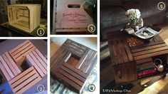 Fruit Crate Coffee Table ~ Mesa de centro con cajas de frutas paso a paso.
