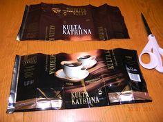 Vinopunottu kahvipussikori | Käsitöitä ja Puutarhanhoitoa