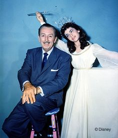 Annette Funicello as an Oz character, hanging with Walt, 1957 | 23 Incredible, Rarely-Seen Photos From The Disney Archives
