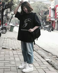 Grunge Outfits, Swag Outfits, Mode Outfits, Girl Outfits, Casual Outfits, Fashion Outfits, Style Ulzzang, Ulzzang Fashion, Ulzzang Girl