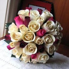 My job - bridal bouquet {wooden roses} Wedding Flowers, Wedding Stuff, Wedding Ideas, Wooden Roses, Everlasting Love, Bouquet, Bloom, Bridal, Create