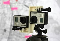 3D Printed GoPro Hero 3/3+ 3D rig 45mm