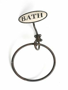 "Shabby Chic Metal Wall Mounted Towel Ring Holder Victorian Vintage Style featuring ""Bath"" motif , http://www.amazon.co.uk/dp/B00C66JO8U/ref=cm_sw_r_pi_dp_L6.6sb0BQJQ08"