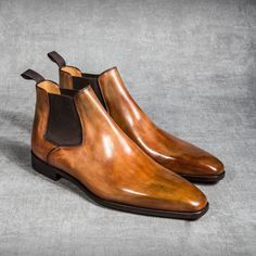 The Well Dressed Connor - iqfashion: Altan Bottier Mens Shoes Boots, Mens Boots Fashion, Sock Shoes, Men's Shoes, Shoe Boots, Dress Shoes, Leather Chelsea Boots, Leather Boots, Formal Shoes
