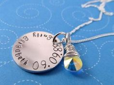 Infant Loss Necklace, Sterling Silver with Crystal Teardrop  $60.00