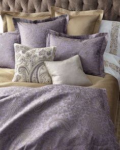 Amethyst Paisley Bedding by SFERRA at Horchow.
