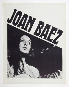 Joan Baez 1974 Commemorative Poster 17.5 x 22.5