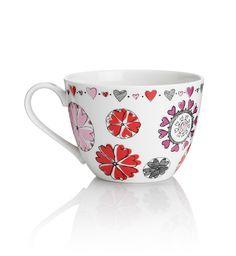Jumbo - Taza de flores de corazones