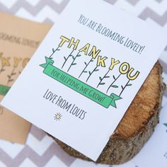 10 Personalised Thank You Seed Packets - card alternatives