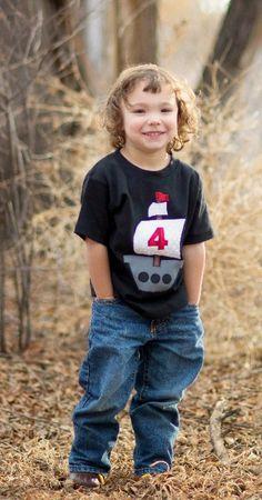 Boys Birthday Shirt - Boys Number Shirt - Pirate Shirt -Birthday Shirt - Toddler Shirt by aHouseintheWoods on Etsy https://www.etsy.com/listing/183157041/boys-birthday-shirt-boys-number-shirt