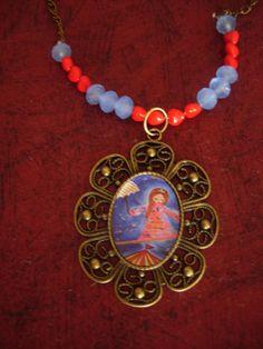 The Life Acrobat whimsical art illustrated necklace by eltsamp, $38.00