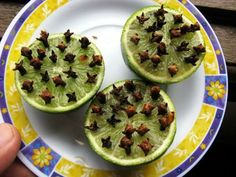 repelente mosquitos This tip is great for those who will make the outdoor dining with a BBQ. Simply slice a lime in half and press in a good amount of cloves for an ALL NATURAL mosquito repellent. Repelir Mosquitos, Home Remedies, Natural Remedies, Homeopathic Remedies, Holistic Remedies, Fee Du Logis, Natural Mosquito Repellant, Indoor Mosquito Repellent, Insect Repellent