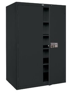 Sandusky Lee KDE7824 09 Black Steel Powder Coat SnapIt Storage Cabinet With  Keyless Electronic Coded Lock