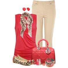Dior Bag & Leopard Peep-Toe Flats