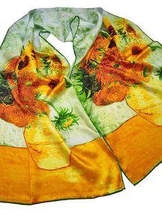 Van Gogh Sunflowers Silk Scarf