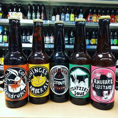 New Beers. Tzatziki Sour Rhubarb & Custard Amber Stout & Salted Caramel Quad from @madhatterbrewing in stock now