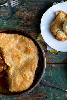 NYT Cooking: In this decadent pie baked in a skillet, fresh peaches are coated in caramel before being topped with a homemade puff pastry crust. The trick to controlling the sweetness here is making sure to cook the caramel until it's very dark brown but not burned. You're looking for the color of an Irish setter: deep brown with a reddish cast. The puff pastry is a shortcut ...