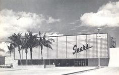 August 1959 - Sears at Ala Moana Shopping Center - Entrance designed by Architect John Graham