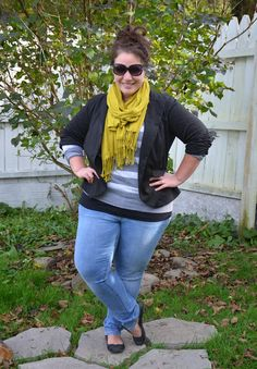 Full Figured & Fashionable: THE BEST TIME TO WEAR A STRIPED SWEATER