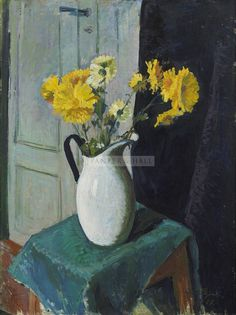 Spring is upon us as is our New Acquisitions exhibition! So make sure you come to the gallery and see all the wonderful works we have displayed! Plant Painting, Painting & Drawing, Still Life Pictures, Still Life Art, Flower Paintings, Art Paintings, Yellow Flowers, Planting Flowers, Design Inspiration