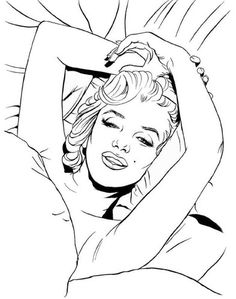points de croix marilyn monroe coloriage a imprimer de marilyn monroe marilyn monroe drawingdrawing artistpointscoloring pagescrossdrawings