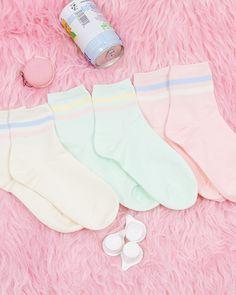 Pastel Striped Socks