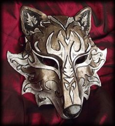 Wolf Mask by ~Namingway on deviantART Scarlet, Plague Doctor Mask, Wolf Mask, Cool Masks, Animal Masks, Venetian Masks, Cosplay, Red Riding Hood, Mask Making