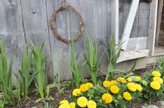 simple wreath for the shed