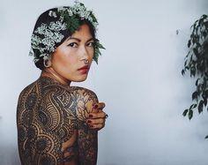 Self portrait  @anhwisle  Backpiece tattoo by #guyletatooer  #ontheroad  guyletatooer.com by tattrx