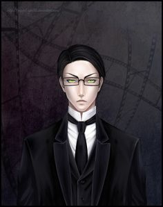 Just a portrait Full view plz William T. Spears (Kuroshitsuji) © Yana Toboso William T. Grell Black Butler, Black Butler Kuroshitsuji, Black Butler Characters, Fictional Characters, Best Animes Ever, Spice And Wolf, Version Francaise, Shinigami, Grim Reaper