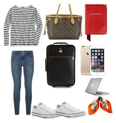 """Off to the airport"" by reneerapp on Polyvore"