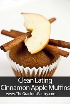 Clean Eating Cinnamon Apple Muffins  (Makes about 16 muffins)  Ingredients  2 cups whole wheat pastry flour  2 tsp. baking soda  2 egg whites  1/2 cup honey  1/4 cup safflower oil  3/4 cup milk of choice (almond, soy, rice, or cow)  1/2 cup unsweetened apple sauce  1 medium apple, peeled and well chopped  2 tsp. cinnamon