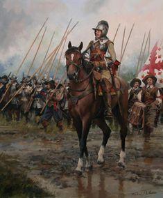 Oficial español. Siglo XVII. (Spanish officer, 17th. century) - Augusto Ferrer-Dalmau.