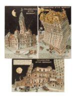 "1907 Postcards Of ""philadelphia After Midnight"" By L.w. Blasius"