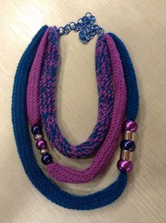 """Le Gioie di Manu"" pezzi unici fatti a mano collana in lana"
