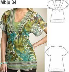 Resultado de imagem para moldes de blusas modernas gratis
