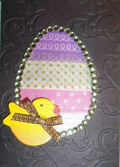Kathy's ATC for the March 2013 Crafty Girls Challenge - Easter